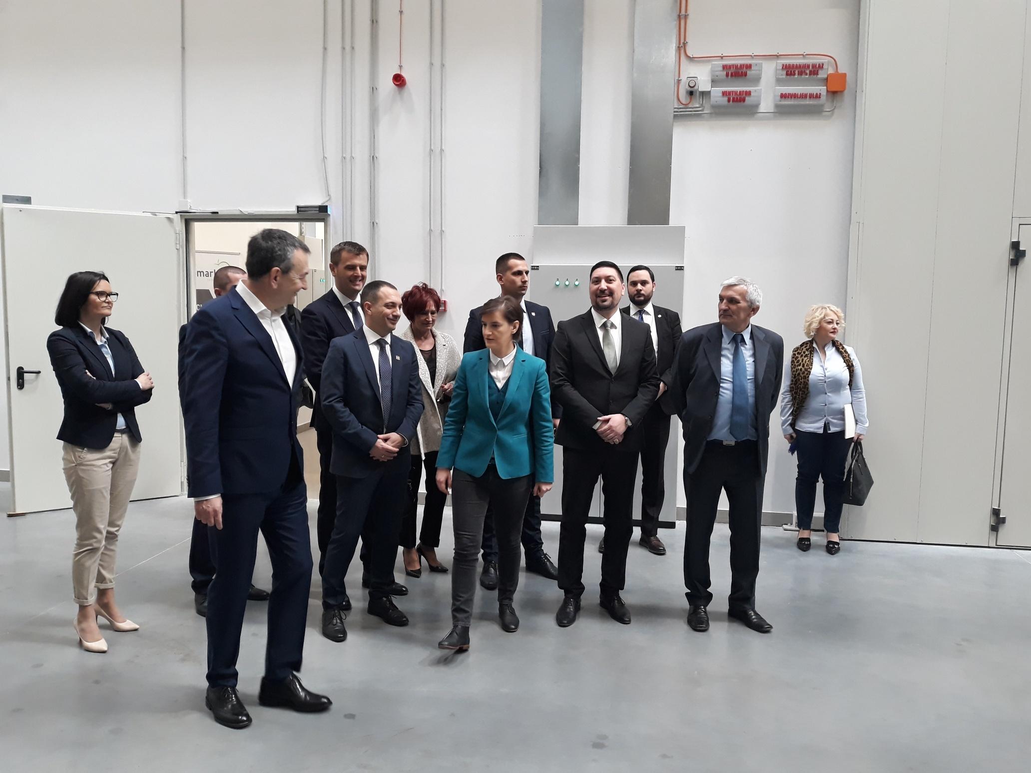 Predsednica Vlade Ana Brnabić otvorila logistički centar