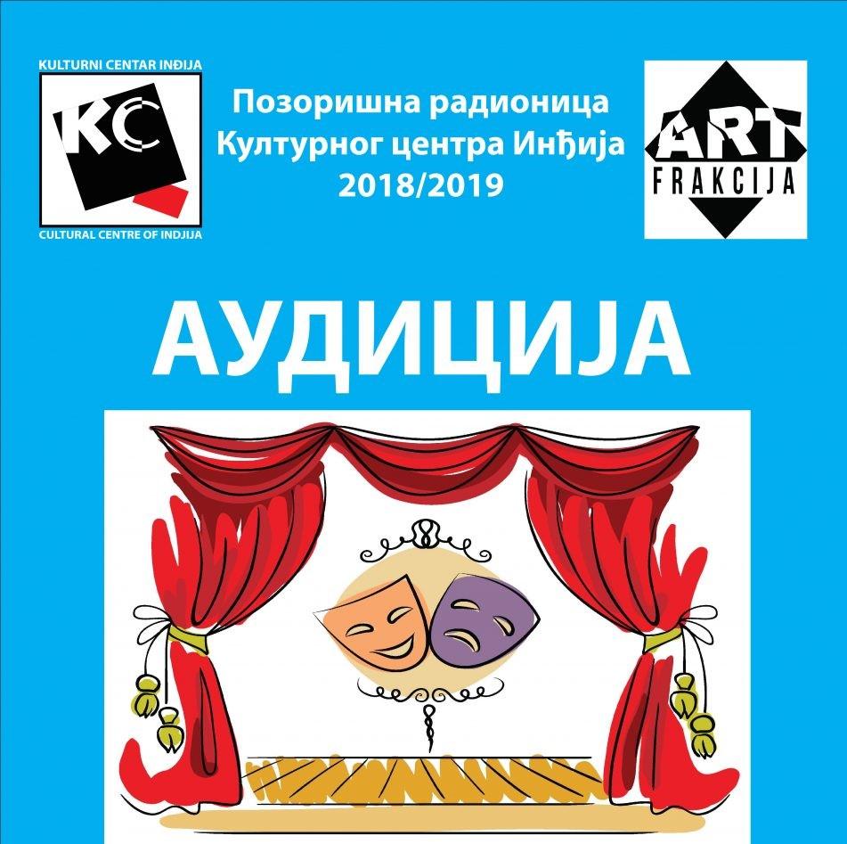 Audicija za buduće GLUMCE Pozorišne radionice