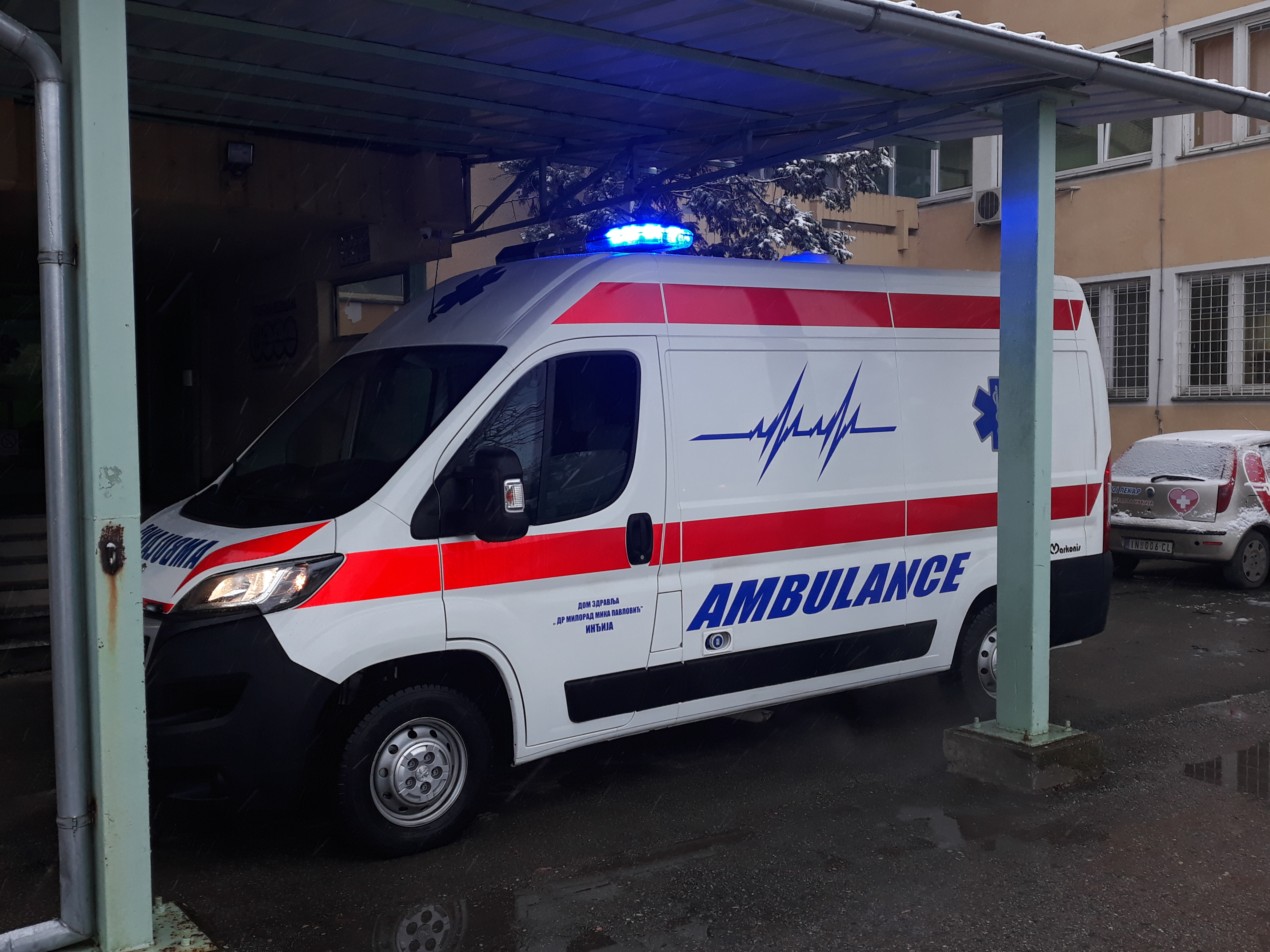 Novo vozilo za Hitnu službu Doma zdravlja u Inđiji