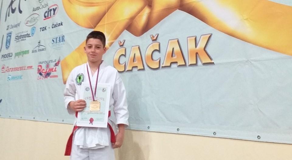 BUDUĆI ŠAMPION: Karatista Stefan Bjeljac na Balkanskom prvenstvu za decu
