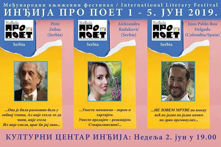"Književni festival ""PRO POET"" u Inđiji okupiće 60 pisaca iz 31 države sveta"