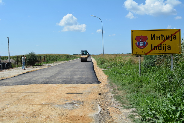PUT INĐIJA-LJUKOVO u završnoj fazi: Saobraćajnica proširena i bezbednija za saobraćaj