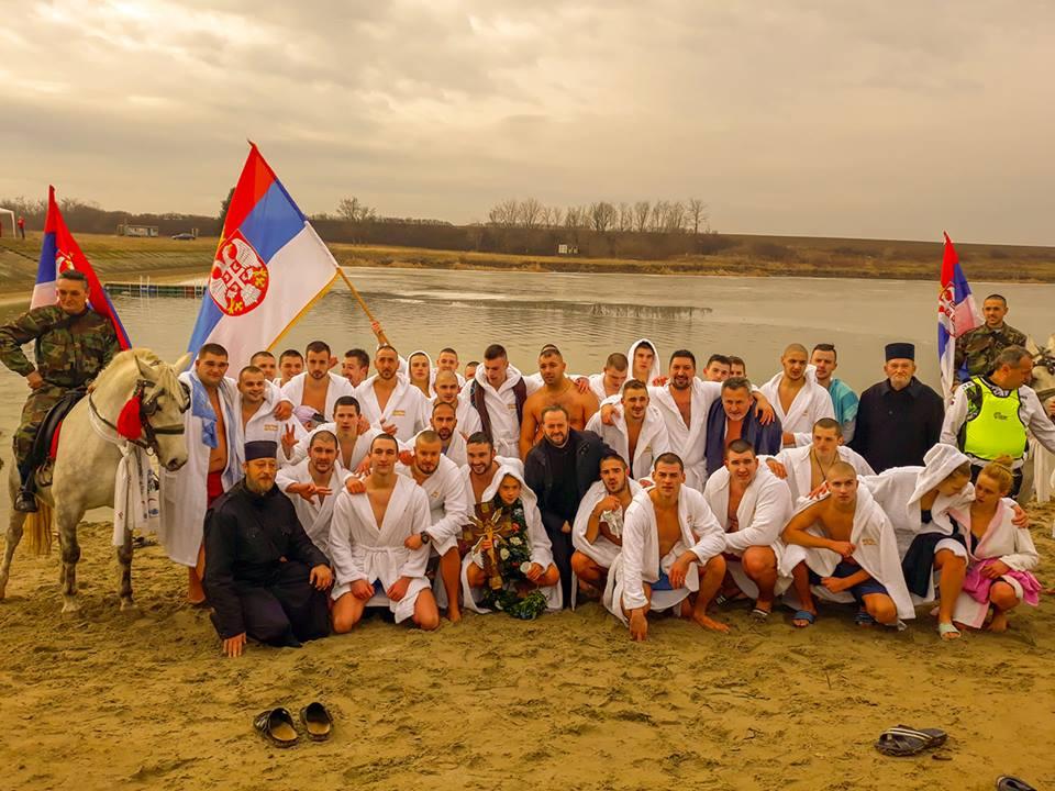 BOGOJAVLJENSKO plivanje za ČASNI KRST treći put na Jarkovačkom jezeru