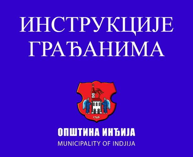 Instrukcije građanima opštine Inđija povodom vanredne situacije i korona virusa