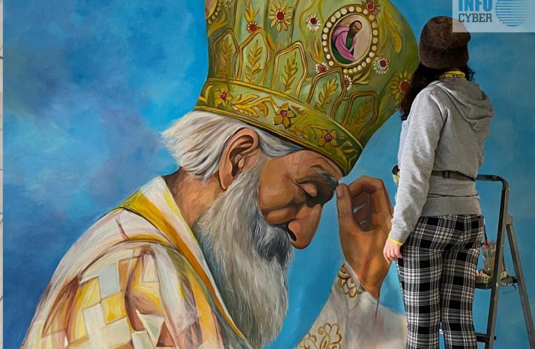 MURAL PATRIJARHA PAVLA-Novo umetničko delo koje krasi Inđiju (VIDEO)