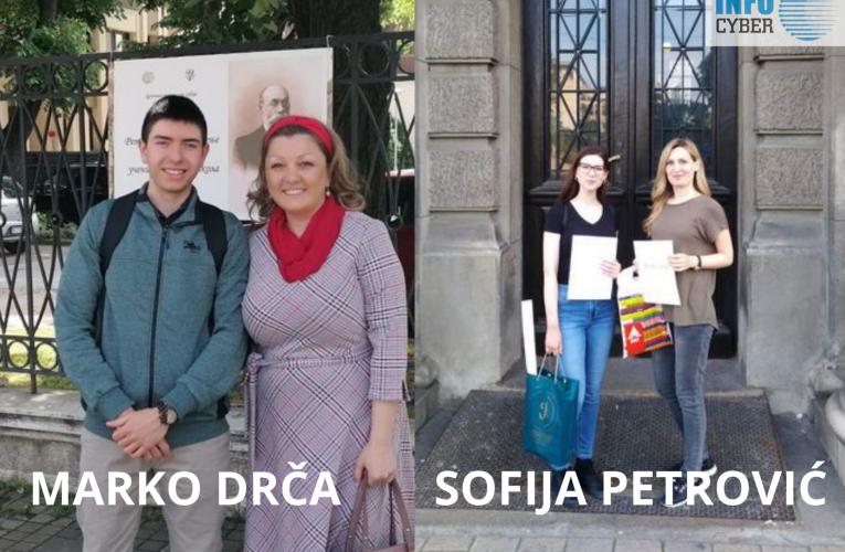 BRAVO ZA NAŠE GIMNAZIJALCE: Sofija i Marko-prvo i drugo mesto na republičkim takmičenjima
