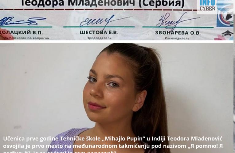 TEODORA MLADENOVIĆ: Prvo mesto na međunarodnom takmičenju iz ruskog jezika