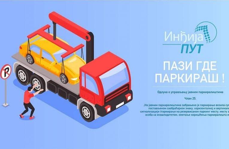"""JP """"Inđija put"""" izdalo brošure kako se pravilno parkira vozilo"""