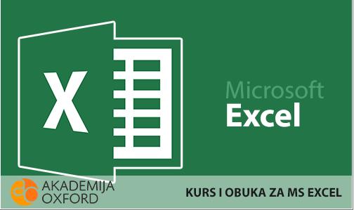 U AKADEMIJI OXFORD Kurs i obuka za Microsoft Excel program