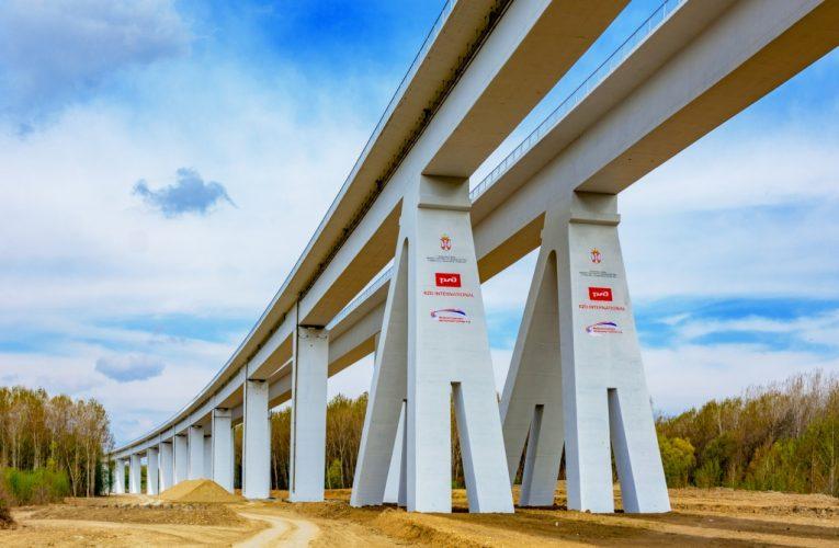ŽELEZNIČKI GIGANT: Vijadukt Čortanovci završen šest meseci pre roka