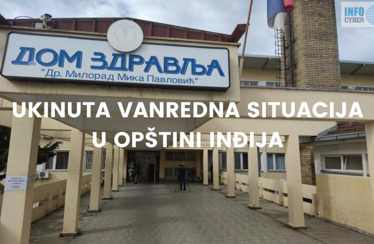 DOBRA VEST: Ukinuta vanredna situacija u opštini Inđija